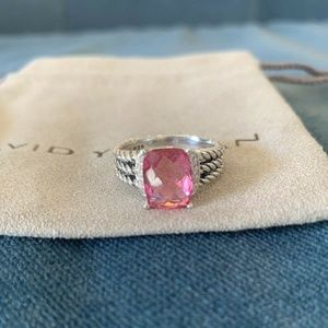 David Yurman Wheaton Ring Tourmaline Diamonds 10x8